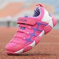 Wholesale kids korean models - Brand wholesale spring models new children's loafers sports students travel running shoes Korean kids sneakers for girls black size 7-37