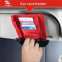 Wholesale visor storage for sale - Group buy Car Sun Visor Organizer Card Storage Holder Pouch Minimalist Design Card Pouch Pen Glasses Clip cards bag