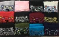 camisolas de capuz para mulheres venda por atacado-Novo frete grátis dos homens / mulheres bordados cabeça do tigre de algodão camisola jumper treino tracksuits Hoodies Moletons tamanho S-2XL 13 cores em