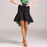 ingrosso moda latina vestito-Moda Ruffle Irregolare sexy gonna da ballo latino per donna / ballerini femminili, costume da ballo costume usura pratica abito pratica 1847