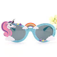 36c0a6f4db5 Shiny Blue Unicorn Funny Party Favors Costume Glasses Sunglasses Mask  Birthday Photobooth Props Gift Wedding Supplies Decoration II-264