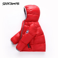 Wholesale parka for resale online - Children s Winter Jackets Down Jacket For Girl Warm Hooded Long Sleeve Baby Toddler Boys Jacket Kids Parka Outerwear Y18102607