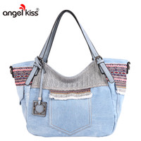 ingrosso modello di tote hobo-Borse a tracolla della borsa della tela delle donne di marca di Angelkiss per le borse messicane di stile del modello tribale delle donne Tote di alta qualità