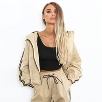 Wholesale suit length new style for sale - Group buy New Style Rib Bottom Pendulum Design Women Tracksuit Fashion Women Piece Outfit Leisure Personality Lady Sweat Suits
