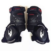 Wholesale road games - The Komine motorcycle racing suit is worn with a sliding block of a professional road to bend the knee for more games.