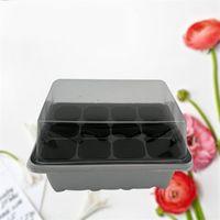 ingrosso forniture di giardino di qualità-Vivaio di plastica vaso pianta germinazione crescere scatola 12 celle nero vassoio di propagazione giardino forniture di alta qualità 2 45hh CB
