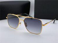 Wholesale sunglasses ultralight - New men brand designer sunglasses 007 square metal frame gold plated ultralight UV400 lens top quality simple protection wholesale eyewear