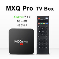 android smart tv box 1gb achat en gros de-MXQ PRO 4K Android 7.1 Tv Box Quad Core 1 GB 8 GB H3 Chip Wifi HDMI 2.0 Soutien 3D Smart Media Player