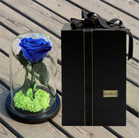 импортные розы оптовых-Импорт RoseAMor Маленький принц стеклянная крышка свежий сохранившийся цветок розы бессмертные красочные розы для девушки День Святого Валентина свадебные подарки
