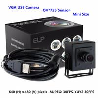 Wholesale Vga Cmos Camera - digital usb camera 3.6mm lens 0.3mp 640x480 VGA 30fps Mjpeg mini usb web camera with OV7725 cmos sensor and metal enclosure