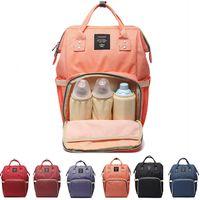 bebek bakım çantaları toptan satış-Moda Bezi Çanta Anne Doğum Nappy Çantalar Büyük Kapasiteli Bebek Seyahat Sırt Çantası Hemşirelik Çantası Bebek Bakımı Için Baba ve MomOutdoor Seyahat Çantası