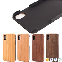 Wholesale Iphone Covers China Wholesale - China Top Quality Wood Phone Case For iphone 10 X 7 8 Plus 6 6s 5 5s Natural Mobile Phone Cover Bamboo Wooden PC Back Case For Samsung S9 S8