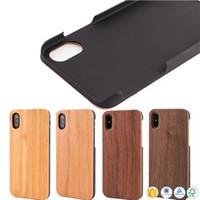 телефоны samsung china оптовых-Китай высокое качество древесины телефон чехол для iphone 10 х 7 8 плюс 6 6 S 5 5s естественная крышка мобильного телефона бамбук деревянный ПК чехол для Samsung S9 S8
