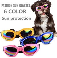 Wholesale pet dog sunglasses online - Dog Glasses Foldable Sunglasses Medium Large Dog Glasses Waterproof Eyewear Protection Goggles UV Sunglasses Pet Supplies