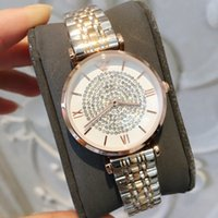 moda elmas taklidi toptan satış-Paslanmaz Çelik Kadınlar İzle damla nakliye Rahat Tasarım Gül Kol Bayanlar Moda Lüks Kuvars Rhinestone İzle Relojes De Marca Mujer
