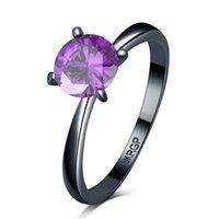 diseño de anillo de oro único hombre al por mayor-Nuevo Diseño Único Anillos de Boda Para Hombres Y Mujeres Crystal Moda Negro Gold Filled Party Ring Jewelry Gifts1703