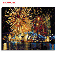 venise peintures à l'huile achat en gros de-Sea World peinture numérique peinture à l'huile peinte à la main Venise par numéros peintures à l'huile chinois rouleau peintures dessin d'image