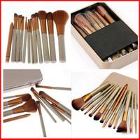 Wholesale Metal Brushes - Naked 3 Professional 12 PCS Makeup Brush Cosmetic Facial Makeup Brush Tools Makeup Brushes Set Kit With Retail Box Free DHL 29