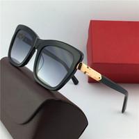 Wholesale cat black elegant for sale - New fashion designer sunglasses square frame simple elegant summer popular style uv protection women eyewear
