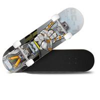 tablas largas de skate al por mayor-Long Marple Fish Shaped Skateboard Retro Longboard Niños adultos Profesión Universal Skate Board Durable PU Four Wheels Design 48zb Y