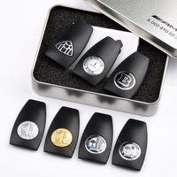 caja de funda de la llave al por mayor-Mercedes Benz amg key key back shell case B amg apple tree logo insignia keycase key key shell