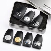 mercedes benz schlüssel schale großhandel-Mercedes Benz Amg Schlüsseletui zurück Shell Case B Amg Apfelbaum Logo Abzeichen Marke Schlüsseletui Schlüssel Shell