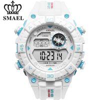 relojes digitales led al aire libre al por mayor-SMAEL Multifunción Relojes de pulsera electrónicos Hombres LED digital Deportes al aire libre Relojes Alarma Relojes militares Hombres Reloj de moda