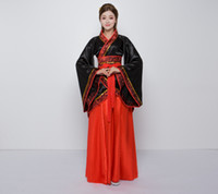 ingrosso costumi cinesi antichi donne-2018 estate costume nazionale di Hanfu antico costume cosplay cinese antica cinese Hanfu vestiti delle donne Lady Stage Dress