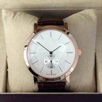 horloge authentique achat en gros de-Haute qualité vente chaude mode femmes / homme montre en cuir véritable luxe samous Marque horloge mâle / femelle pour les amateurs en gros montre de détail