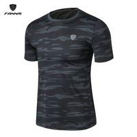 Wholesale freedom sleeve - FANNAI Breathable Rich Tension Mens Sport T Shirt Short Sleeve Freedom Movement Durable Golf Sports Shirts 2 Colors M-4XL