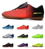 reputable site 72150 34797 Nouveau pas cher Mercurical Victory VI IC Chaussures de football pour  hommes Chaussures de football ACC Bottes de football en salle Hommes  Crampons de ...