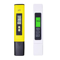 probador de tds ppm al por mayor-Protable LCD Medidor de PH Digital TDS CE Pen Pureza de Agua PPM Filtro Acuario Hidropónico Piscina de Agua Probador de Orina de Vino