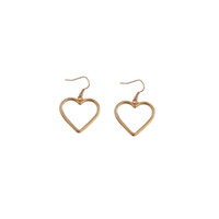 Wholesale best gifts for girls for sale - Heart Drop Earrings New Fashion Jewelry Accessories Gold Silver Color Heart Deisgn Dangle Earring Best Gift for Girl