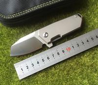 flip messer großhandel-NIGHTHAWK NF01 New Flipping klappmesser D2 klinge lager titanium griff outdoor jagd camping taschenmesser edc werkzeuge