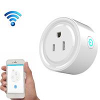 ingrosso interruttore wifi di uscita-Spine di alimentazione WIFI Smart Home Compatibili con Alexa Sonoff Presa Wifi Automazione Telefono App Interruttore di temporizzazione Telecomando Spina UE