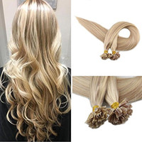 Wholesale remy hair extensions 18 613 for sale - Group buy Evermagic High quality Remy Hair Extensions Human Hair U Tip Keratin Color Nail Tip Extensions