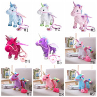 Wholesale singing plush for sale - Electric Unicorn Doll Plush Toys Walking Stuffed Animal horse Toy Electronic Music Singing Toy Chinldren Christmas Stuffed gift GGA1262