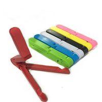 tripé do suporte do telefone venda por atacado-Universal Fixable Fold-Up telemóveis Stands Mount Holder Tripod Cradle para iPad 2 3 4 5 Mini Air 7-10 polegadas Tablet PC