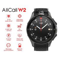 смотреть 2gb оптовых-Allcall W2 IP68 Водонепроницаемый 3G Smart Watch Phone Android 7.0 Quad Core 1.3 GHz 2GB RAM 16GB ROM GPS Bluetooth