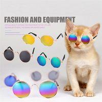 Wholesale dog sunglasses for sale - Fashion Glasses Small Pet Dogs Cat Sunglasses Eyewear Protection Cool Glasses Pet Sun Glasses Photos Props Pet accessories T1I407