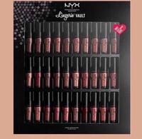 Wholesale nyx lip lingerie sets for sale - Hot Sale NYX SOFT MATTE LIP CREAM and Set Lingerie Vault Lipstick No Fading Soft Velvet Lip Makeup set