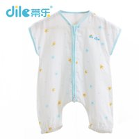 Wholesale One Piece Clothing For Babies - Dile cotton baby sleeping bags with short sleeve infant sleep snack for summer one-piece unisex kids clothing