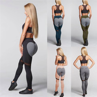 Wholesale Plus Size Active Wear - Gym clothes heart shape yoga pants spandex openwork gym wear trousers leggings perspective patchwork stiching fitness pants plus size WY012