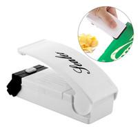 selador de saco de lanche venda por atacado-Selagem Household portátil Vacuum Sealer cozinha suprimentos Snacks Bags ABS Selagem Pressão Clipe Mão calor Bag Sealing Ferramenta Início