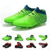 ingrosso calcio sintetico-2018 New KUN Sergio Aguero One Leather 18.1 Sintetico Syn FG Griezmann scarpe da calcio alte scarpe da calcio da uomo tacchette taglia 39-45
