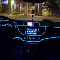 Wholesale 12v el wire car resale online - 1pcs m Flexible EL Wire Noen Light Colors DC V Car Interior LED Strip Light Auto DIY Atmosphere Lamp