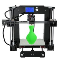 Hot selling Anet A6 High Precision Big Size Desktop 3D Printer Kits Reprap Prusa i3 DIY Self Assembly LCD Screen with 16GB SD Card Aibecy Cleaning