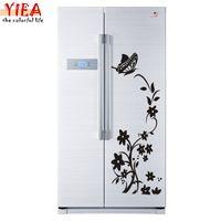 baum malerei tuch großhandel-hochwertige kreative Kühlschrank Aufkleber Buerfly Paern Wandaufkleber Wohnkultur