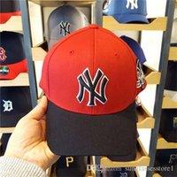 Wholesale Caps Hats Mlb - 4 Color Yankees Hip Hop MLB Snapback Baseball Caps NY Hats MLB Unisex Sports New York Adjustable Bone Women casquette Men Casual headware