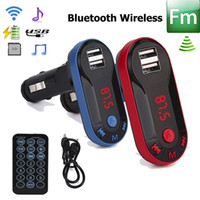 Wholesale Wholesale Car Stereos - MP3 Player Bluetooth Car Kit Bluetooth Wireless FM Transmitter MP3 Player Handsfree Car Kit USB charger TF SD Remote GGA93 20pcs